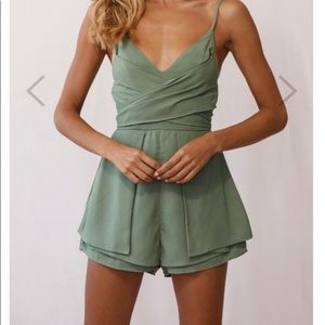 Military Green Boutique Style Romper